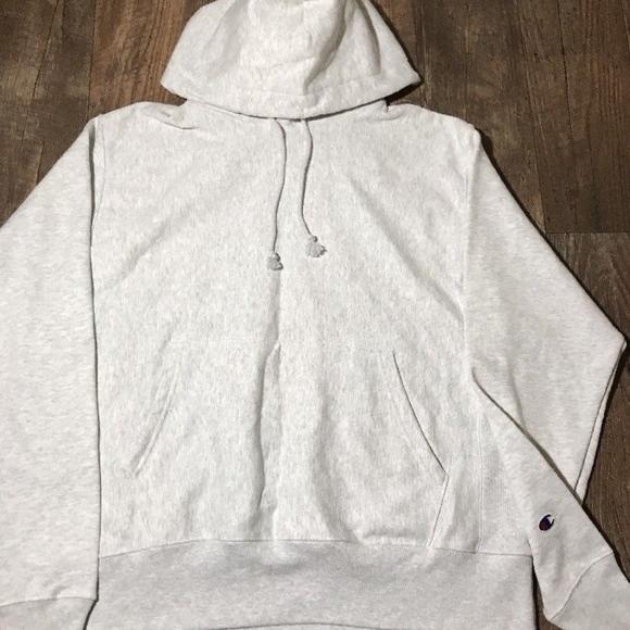 dbeb7953 Champion Shirts | New Reverse Weave Silver Gray Hoodie Logo | Poshmark